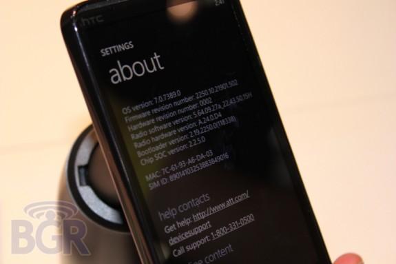 HTC HD7S на CTIA 4