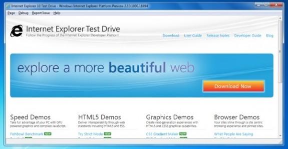 Microsoft показала Internet Explorer 10