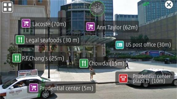 Live View AR - приложение дополненной реальности от Nokia