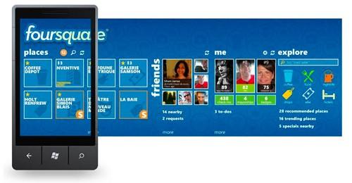 Перезапуск Foursquare для Windows Phone 7