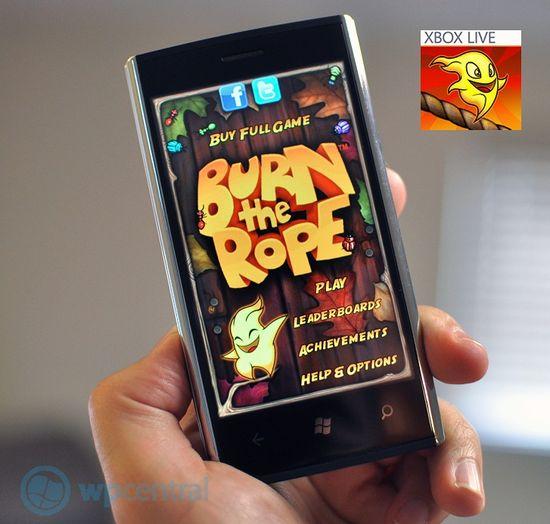 Burn the Rope! - новая игра Xbox Live для Windows Phone 7