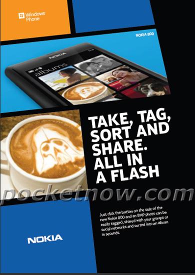 В сеть утекла реклама Nokia 800 - финского смартфона на Windows Phone