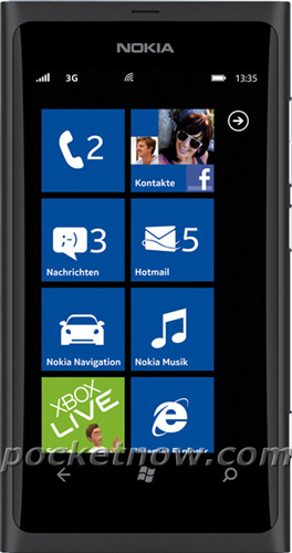 Черная Nokia 800