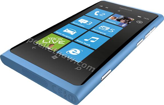 Синяя Nokia 800