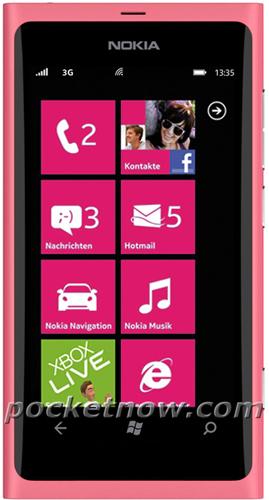 Розовая Nokia 800