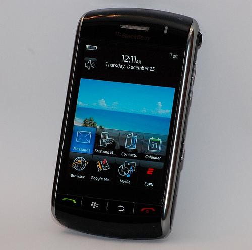 BlackBerry Storm экран